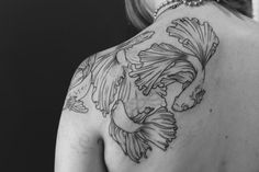 Lovely Betta Tattoo..I think I'm inspired. :) #fish #Ink
