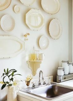 collection of plates makes a pretty display @ Sharon luthi