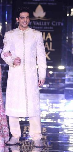 Actor Zayed Khan in Brilliant Adarsh Gill Groom's Sherwani groom sherwani, indian groom