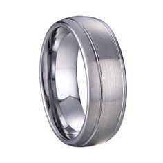 Simple brushed style Tungsten Ring