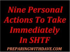 9 Personal Actions to Take Immediately After SHTF: Josh's Take on Survival Knowledge