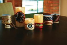 Candles for James' Eagle Scout Court of Honor Ceremony-  use battery operated candles