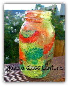 The perfect fall craft for kids! (Make a Mason Jar Lantern)~ Buggy and Buddy