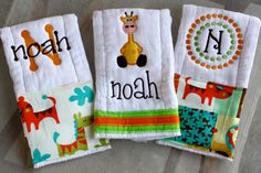 I am going to try making these burp cloths-should be pretty easy...anyone  have an embroidery machine?!