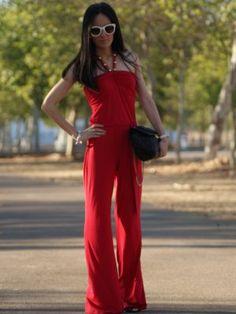 marialeon Outfit   Verano 2012. Combinar Vestido Rojo oscuro babyphat, Gafas Gris Plata Zara, Bolso Negro Blanco, Cómo vestirse y combinar según marialeon el 2-9-2012