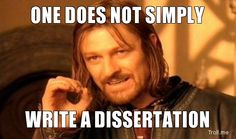 Advice on Finishing Your Dissertation