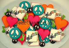 Peace, Love and Music Platter by SweetSugarBelle, via Flickr