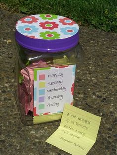 copywork jar: coping quotes, poems, scriptures.
