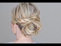 Messy Bun with a Braided Wrap