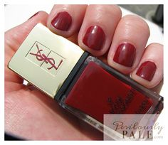 Yves Saint Laurent La Laque Couture N 32 Rouge Expressioniste for Fall 2012 ~ Swatches, Photos, Reviews |Perilously Pale