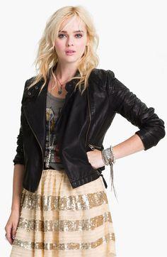 Free People 'Sunburst' Faux Leather Moto Jacket | Nordstrom