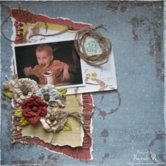 "Scraps of Darkness Artist Kits - layout by Sarah Routledge, created with the August ""Rustic"" kit. www.scrapsofdarkness.com"
