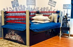 Eclectic wrestling style boys bedroom ideas design for kids