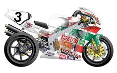 Honda RC45 Superbike - Cutaway view