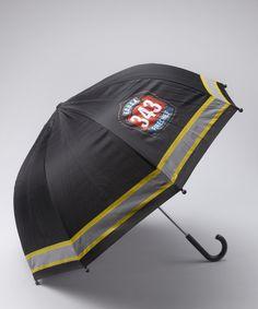 black fire fighter umbrella
