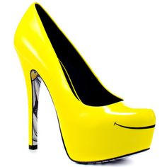 Smiles Heels Yellow, $129, now featured on Fab.