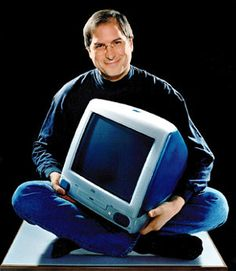 Steve and an early version of iMac