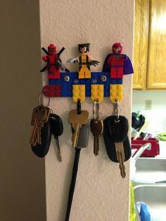 craft, stuff, keys, key holders, smart idea, legos, awesom, lego key, creativ idea