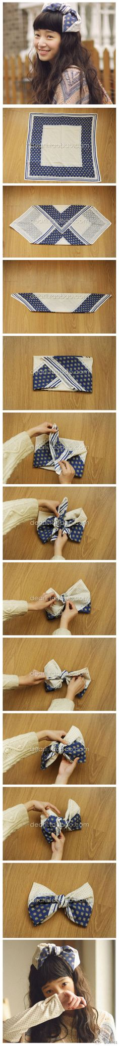How to fold a bow