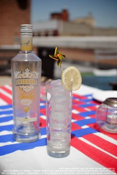 Smirnoff Sorbet Light* Lemon and Seltzer with 1.5 oz Smirnoff Sorbet Light Lemon, 3 oz Seltzer. Build in a tall galss over ice and stir. Garnish with a lemon wheel. #Smirnoff #drink #recipe #SmirnoffSorbet #Sorbet #lemon #memorial #day