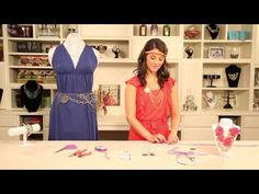 Make a headband & belt with Styled by @Tori Sdao Spelling jewelry components :)