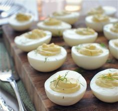 Greek Yogurt Deviled Eggs.
