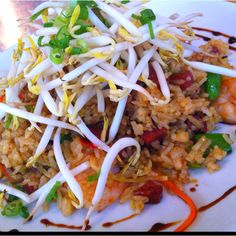 Chef's lunch special - Shrimp and chorizo fried rice
