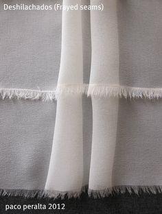 deshilachado en  Tejidos transparentes (Tutorial costura).-