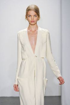 Daphne Groeneveld at Calvin Klein Spring 2011, New York