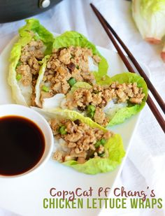 Copycat #recipe: PF Chang's Chicken Lettuce Wraps #GlutenFree via FitFoodieFinds.com