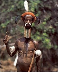 Thats Gangsta In This Picture: Photo of an African tribesman with a long neck