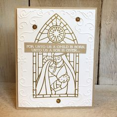 We love the look of the heat embossing and dry embossing on this card made with the Gentle Peace stamp set. (card by Terri Allen)