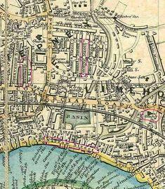 """Captioned: """"Limehouse map""""  #Regents #Canal # London #Boat #lighter #barge #dock #east #limehouse #docklands #historic #thames"""