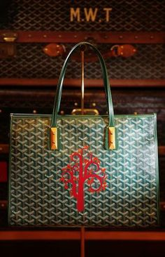 A painted design is seen on a Goyard handbag at the Goyard store on Tuesday, March 19, 2013 in San Francisco, Calif. Photo: Lea Suzuki, The Chronicle