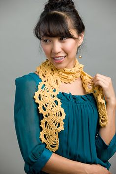 This crochet scarf is unique and eye-catching. Beatrice's Scarf - Media - Crochet Me