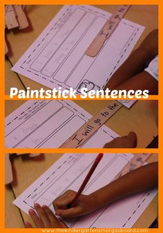 Paint stick sentences!  Use paint sticks to make fun and silly sentences!