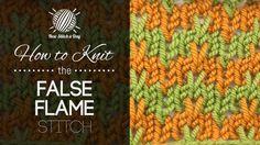 How to Knit the False Flame Stitch
