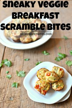 Sneaky Veggie Breakfast Scramble Bites are protein and vegetable packed little portable nibbles that toddlers and kids will love and parents will enjoy too! beckysbestbites.com #healthyrecipe #kidfriendly #healthy