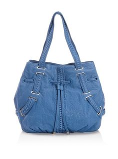Haven Drawstring Hobo  Pebbled leather, interwoven straps, leather stitching details, drawstring closure, interior pockets, key ring  http://ezinepictures.com/haven-drawstring-hobo/#