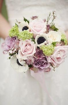 idea, enchanted bouquet, bridal bouquets, shades of purple, bouquet wedding
