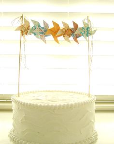 Pinwheels will be everywhere.  Why not on the cake too?  :)