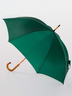 Hunter Green Wooden Fashion Stick Umbrella