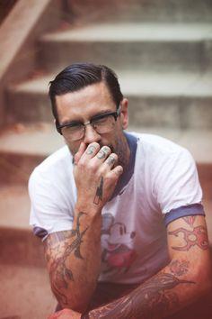 hair tattoos, mickey mouse, glasses, shirts, disney shirt