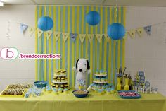 Charlie Brown / Snoopy Theme Party  - by www.facebook.com/brendaccreations