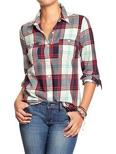 Plaid Flannel Shirt | Old Navy