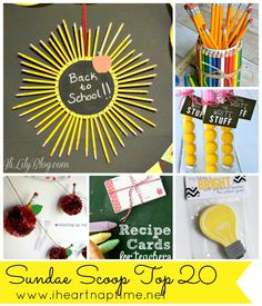 20 Back to School Ideas (link party features) I Heart Nap Time | I Heart Nap Time - Easy recipes, DIY crafts, Homemaking