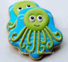 Cute Octopus from an upside down cupcake cutter