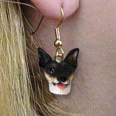 earrings terrier earring, chesapeak bay, authent earring, earring 1400, cattle dogs, chesapeake bay retrievers, cairn terriers, rat terriers, earrings