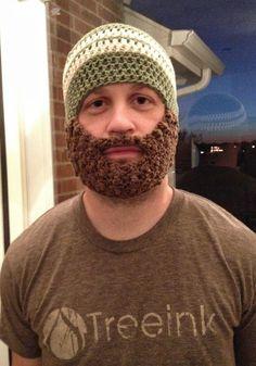 Bearded Beanie Adult by ForgetMeKnotsCrochet on Etsy, $25.00