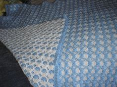 Two Sided Shell Baby Afghan Similar to the LeeWards pattern kit of the 1970s. Free on Ravelry.